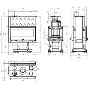 dessin technique Focolare 100 Bifacciale