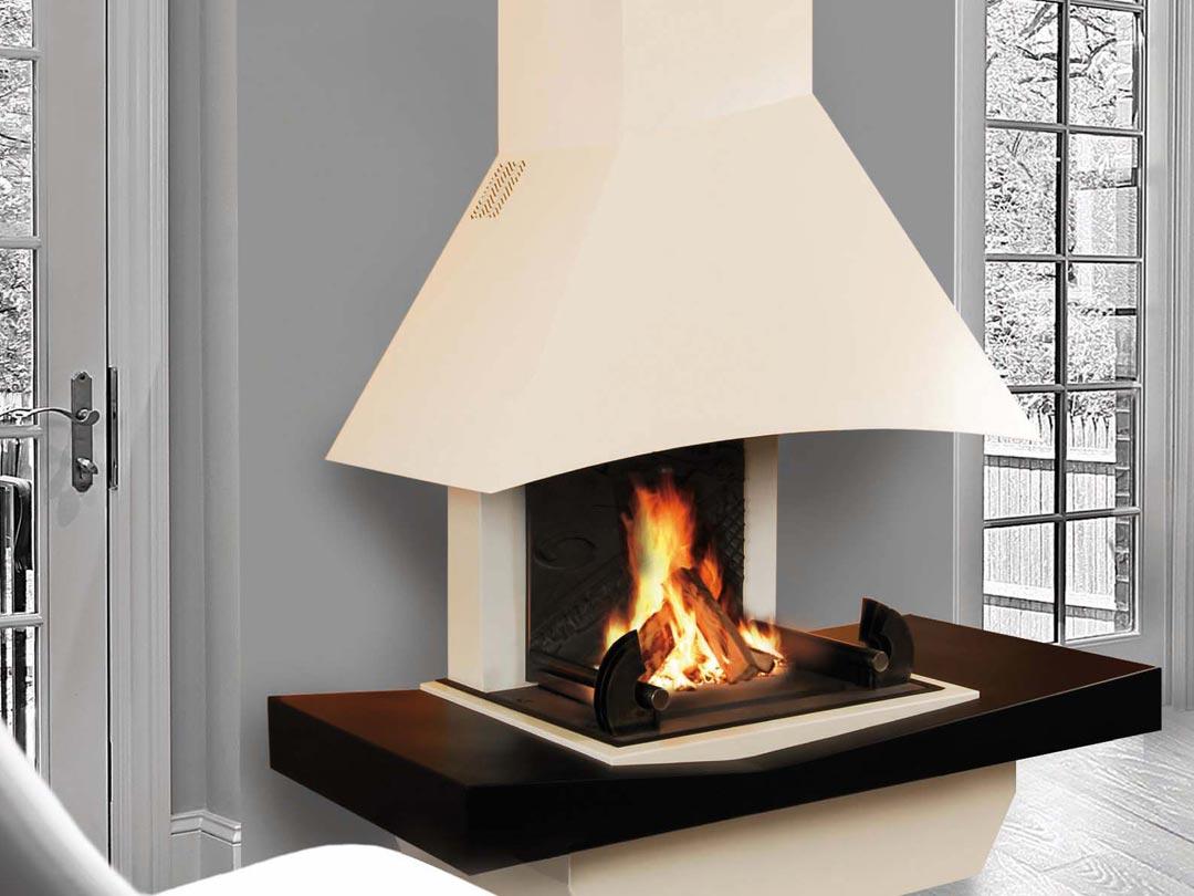 chemin e polyflam petite mirage iv acier. Black Bedroom Furniture Sets. Home Design Ideas