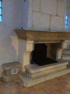 Polyflam dans cheminée traditionnelle