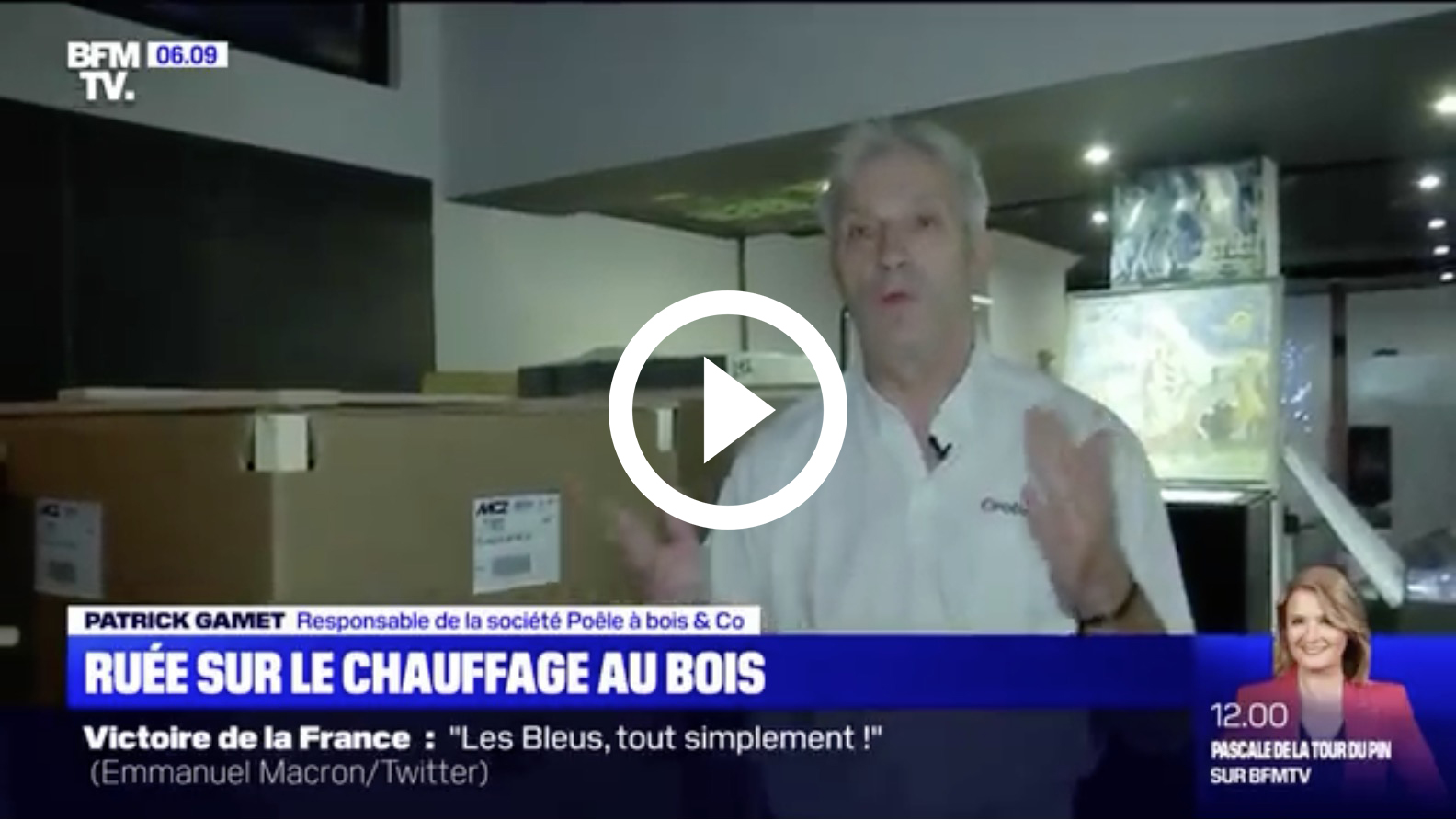 poele à bois and co sur BFMTV